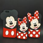COVER silicon mickey minnie cartoons 3d for models iphone 4 5 6 7 Plus