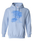 Gildan Hooded Hoodie Pullover Sweatshirt Sports Hockey Player Motion Shadow Blue