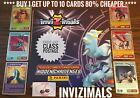 Panini INVIZIMALS Hidden Challenges Cards, Buy 2 Get 4 Free, Metal,Gold,Diamond