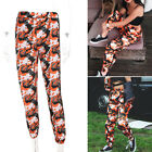 New Women Camo Cargo Trousers Casual Pants Army Combat Camouflage Jogger Bottoms