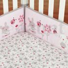 4Pcs/set Animal Baby Infant Cot Crib Bumper Toddler Nursery Safety Protector US фото