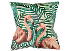 Tropical Leaf Flamingo WATERPROOF OUTDOOR PVC GARDEN BENCH SEAT CUSHIONS BUNTING