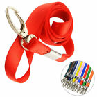 Внешний вид - 10pcs Nylon Lanyard Neck Strap Keychain Badge ID Card Holder Lobster Clip Claw
