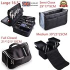 Extra Large Make Up Case Hairdressing Vanity Beauty Cosmetic Box Trolley Black
