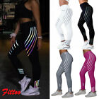 Women's Reflective YOGA Sports Fitness Pants Running Workout Leggings Trousers