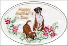 Boxer Dog Mother's Day Card Embroidered by Dogmania