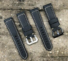 Men's Genuine Leather Watch Strap Band For Panerai Omega Rolex Cartier Seiko TAG