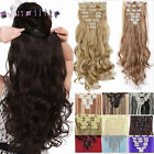 Full Head Clip in Hair Extensions Remy Thick 8Pc Tape Natural As Human Hair hg90