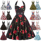 Plus Size Ladies 50s 60s Retro Swing Pinup Girls Rock N Roll Evening Party Dress