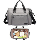 Grey Womens Maternity Holdall Baby Nappy Changing Travel Bag Cabin Hand Luggage
