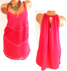 Maurices neon coral crochet/lace back keyhole layered plus size XL, 1X, 2X, 3X