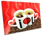 I Love You Coffee Kitchen Picture SINGLE CANVAS WALL ART Print