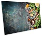 Vegetables Spices Herbs Picture SINGLE CANVAS WALL ART Print