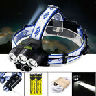 pretzel head torch - 80000LM 5-LED Zoom LED Rechargeable 18650 Headlamp Head Light Torch Charger US