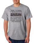 USA Made Bayside T-shirt Freaking Awesome Beautician Trying Exhausted
