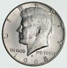 1968-D Denver Minted 40% Silver Kennedy Half Dollar *609