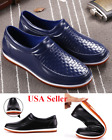 2018 Mens Restaurant Oil Resistant Kitchen Work Shoes Non slip Water rain shoe