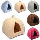 Igloo Style Padded Pets House Fleece Winter Bed Dog Cat Kitten Puppies Own House