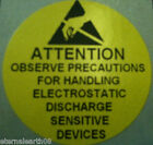 ATTENTION ESD Static Sensitive Sticker Labels 38mm Diameter Various Quantities