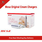 MOSA CREAM CHARGER. Quality N2O. Silver Steel.