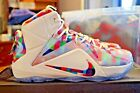 Nike Lebron XII 12 EXT Finish Your Breakfast Multi Color Red White 748861 900