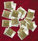 27 x 8 1/2p Embroidery GB stamps, used, off paper suit Art Project, Mail Art etc