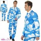 Mens Sky High Suit Adult Fancy Dress Costume Blue Clouds Novelty Stag Fun Outfit