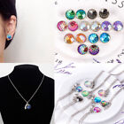 Fish Scale Pendant Mermaid Necklace Rainbow Chain Earrings Fashion Jewelry Set