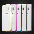 Ultra Silicone Rubber Bling Case Glitter Cover For Samsung Galaxy s6 edge Note 5