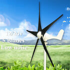 5 Blades DC 12/24V 100W Wind Turbine Generator With Windmill Charge Controller
