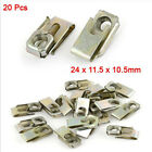 20Pcs Car Panel Fender U-Type Clips Rivets Fastener Speed Nuts Tool Hotsale New
