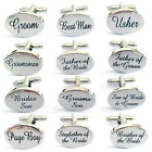 Silver Engraved Custom Cufflinks Cuff & Links Gift Wedding Personalised a Groom