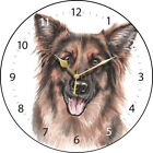 German Shepherd Print Round Wall Clock - Available in 3 Designs