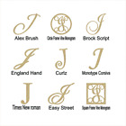 """Unfinished Wooden Monogram Letter """"J"""" in Your Choice of Size and Font"""