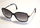 Chanel Sunglasses 5355 Gold Sculptured Camellia Flower Arms Size 58mm