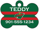 Minnesota Wild Custom Pet Id Dog Tag Personalized w/ Name & Number $10.97 USD on eBay