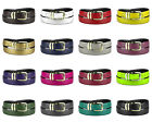 CONCITOR Reversible Belt Wide Solid Colors Black Bonded Leather Gold-Tone Buckle