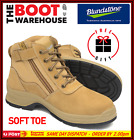 Blundstone 418 Wheat Non Steel Toe - Soft Toe - Work Boots, Zip Side / Lace-up.