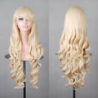 28 inch Long Curly Wigs Party Cosplay Wigs vogue wigs Side Bangs wigs Women New