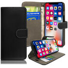 Case For iPhone 6 7 8 5 Plus XR XS Max Cover Real Genuine Leather Flip Wallet