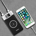 FDGAO Wireless Charging 10000mAh Power Bank Battery 2USB Charger For iPhone 8