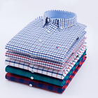 Plaids & Checks New Mens Luxury Casual Stylish Dress Long Sleeves Shirts ZC6437