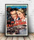 In old California : Vintage Movie Ad , poster, Wall art, poster, reproduction