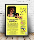 Hair Curlers : Vintage haircare Advert , poster, Wall art, poster, reproduction