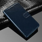(Dark blue) Premium PU Leather Flip Case Wallet Stand Cover For Various Phones