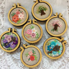 Cross Stitch Frame Miniature Embroidery Hoop Tiny Embroidery Pendant Hoop 1pcs