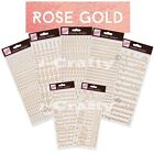 Anita's ROSE GOLD Craft Peel off OUTLINE STICKERS Letters Numbers Birthday etc