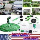 US SHIP NEW 25-200 Feet Expanding Flexible Garden Water Hose Spray Nozzle