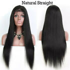Straight Full Lace Wig Glueless Lace Front Wig Unprocessed Peruvian Human Hair F