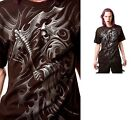 Spiral Direct Gothic Tribal Reaper Wrap Black Printed T - Shirt Size M